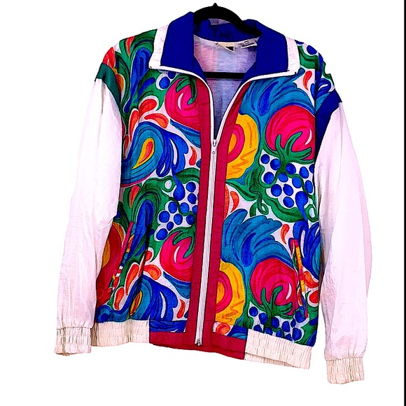 Vintage colorful windbreaker size small